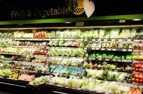 Organic Greens at Modern Supermarket