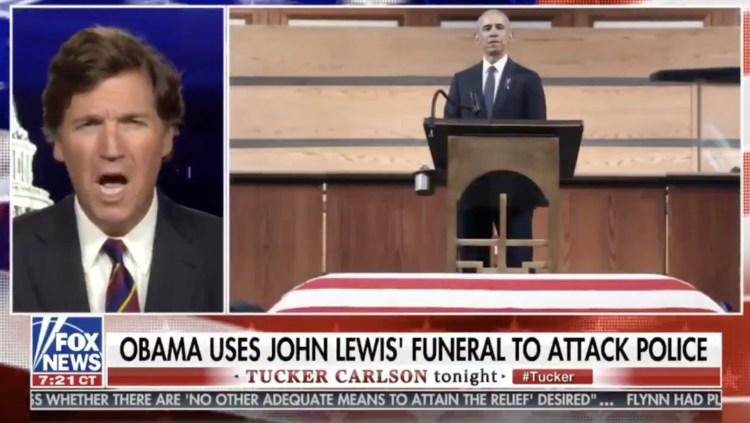 Tucker Carlson Snipes At Obama For John Lewis Eulogy