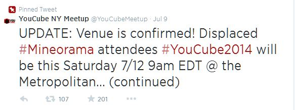 YouTubers band together to save the day with YouCube Meetup 2014.