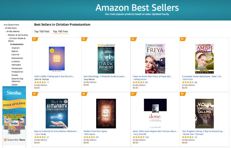 #1 Amazon Best Seller in Christian Protestantism Free Category