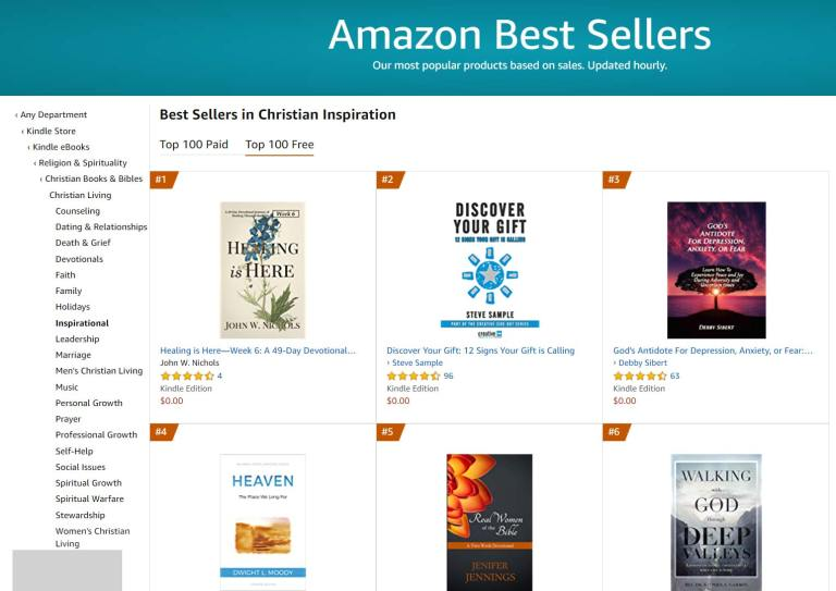 #1 Amazon Best Seller in Christian Inspiration Free Category