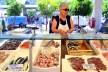 Tant på fiskmarknaden i La Spezia