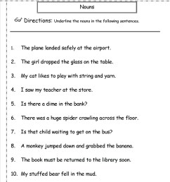 4th Grade Gender Nouns Worksheet   Printable Worksheets and Activities for  Teachers [ 1650 x 1275 Pixel ]
