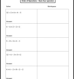 Algebraic Expressions Worksheets 6th Grade Answers   Printable Worksheets  and Activities for Teachers [ 2400 x 1777 Pixel ]
