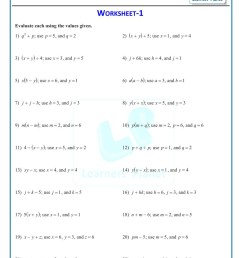 Writing Algebraic Expressions Worksheet 5th Grade   Printable Worksheets  and Activities for Teachers [ 1521 x 1075 Pixel ]