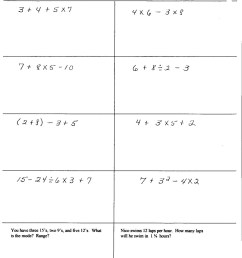 Bodmas Worksheets With Brackets   Printable Worksheets and Activities for  Teachers [ 1831 x 1400 Pixel ]