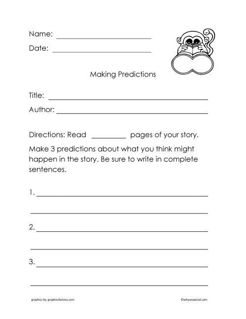 small resolution of Prediction 2nd Grade Reading Worksheets   Printable Worksheets and  Activities for Teachers