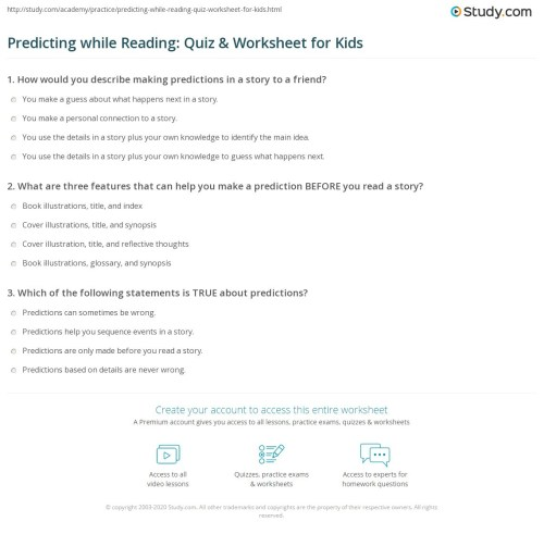 small resolution of Prediction Worksheet Second Grade   Printable Worksheets and Activities for  Teachers