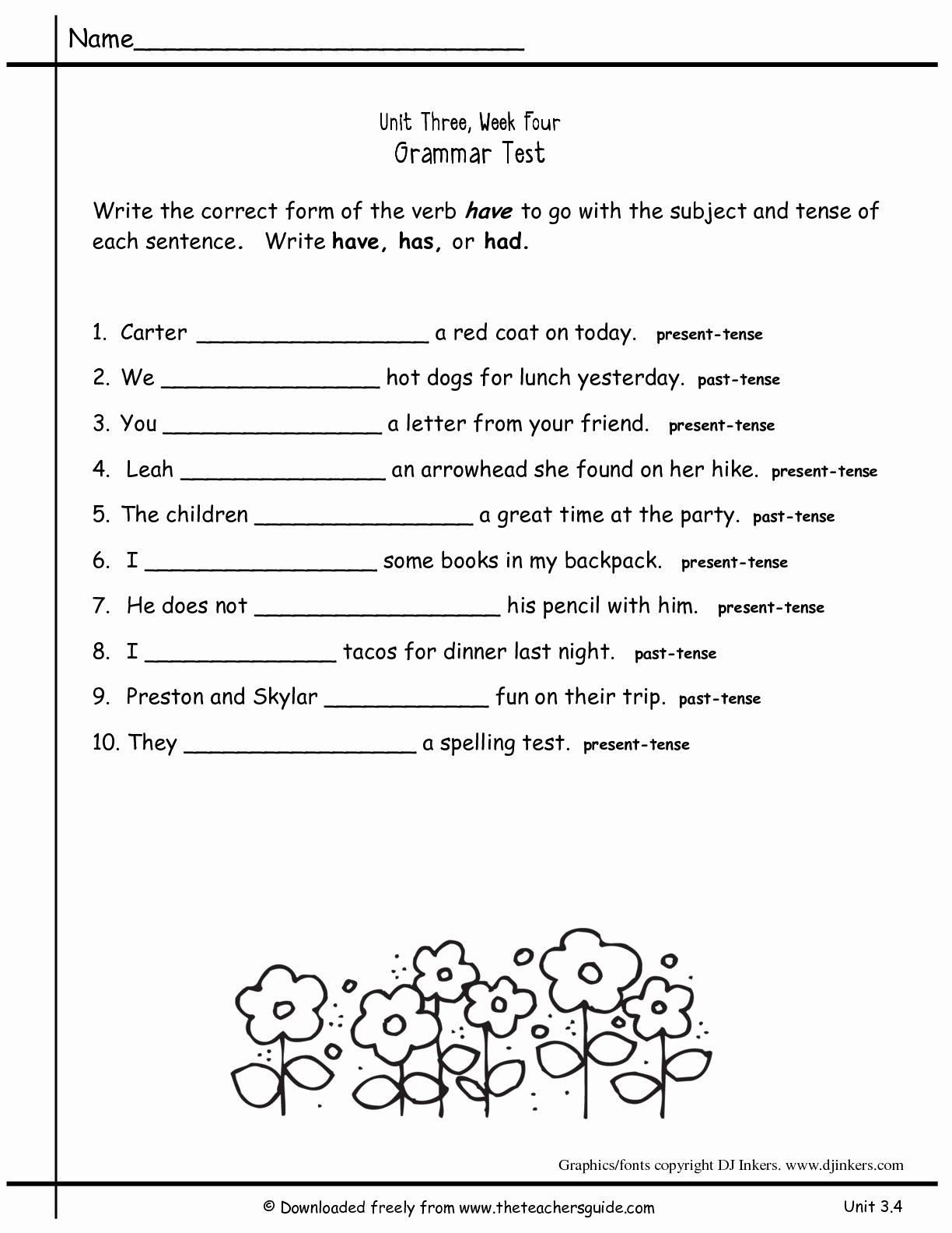 Topic Sentence Worksheets 2nd Grade