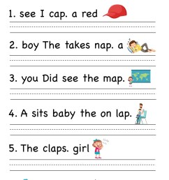 Sentence Correction Worksheet For 1st   Printable Worksheets and Activities  for Teachers [ 2249 x 1606 Pixel ]