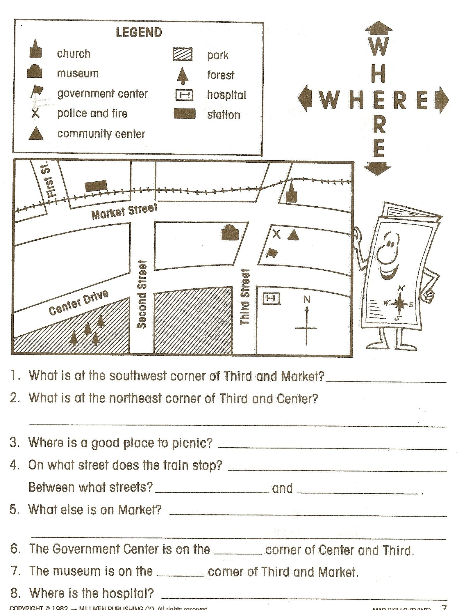 hight resolution of 5th Grade Geography Worksheets   Educational Template Design