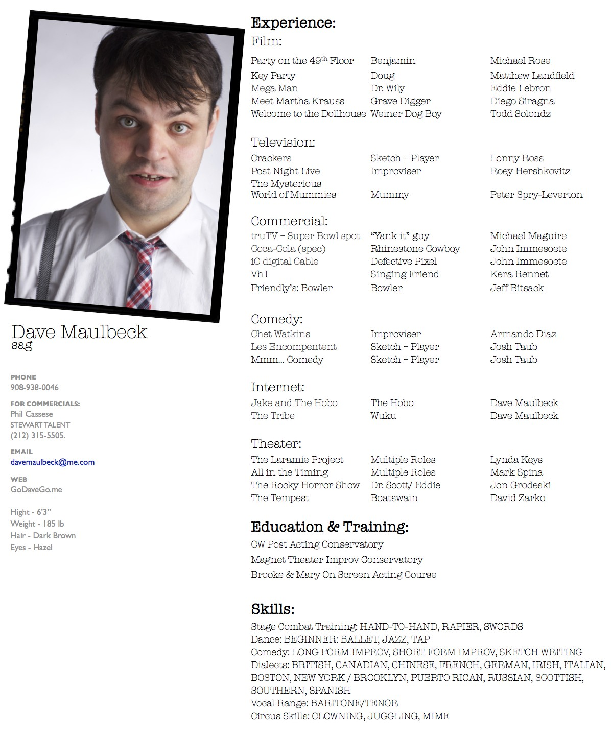 Actor Resume Example How To Write A Theatre Resume For Children