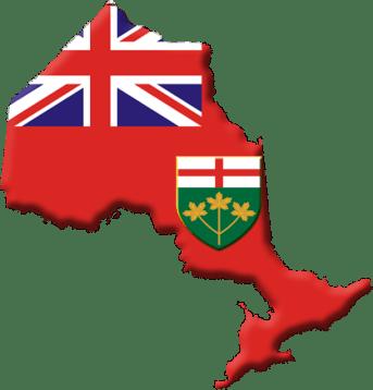 Ontario Flag/Provincial shape