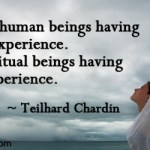 We are spiritual beings having a human experience.