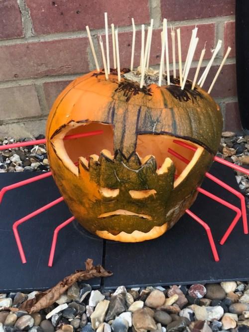 Spider Pumpkin, Godberstravel, godberboys, pumpkin, carving,