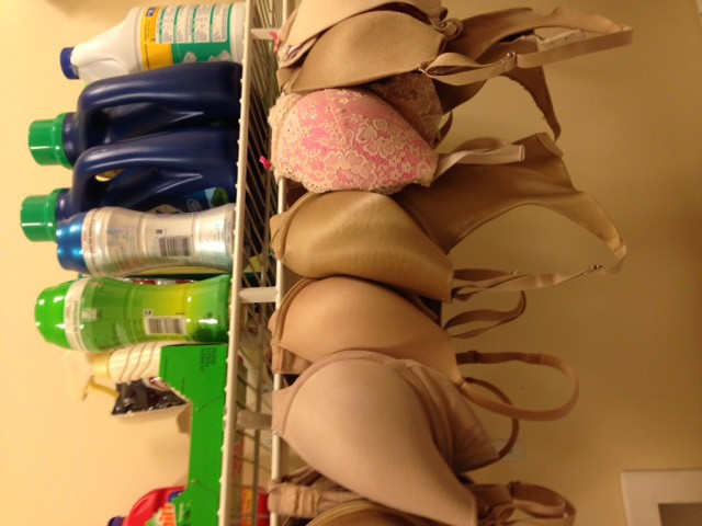 Hanging Bras to Dry