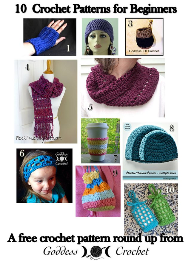 10 Crochet Patterns For Beginners A Free Crochet Pattern Round Up