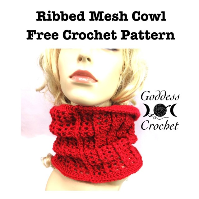 Crochet pattern, cowl crochet pattern, goddess crochet