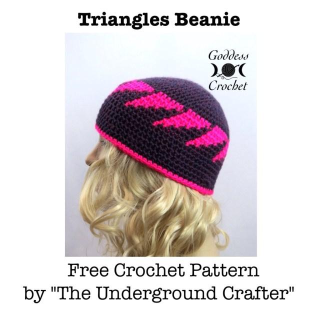 Free crochet pattern, crochet hat pattern, crochet beanie