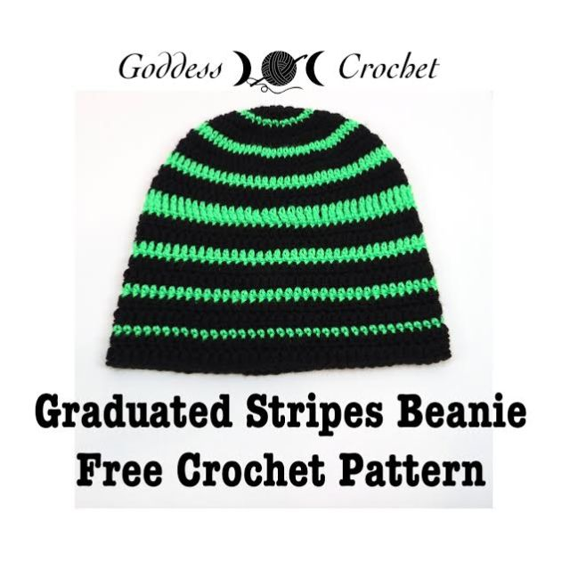 Free Crochet Pattern - Graduated Stripes Beanie