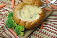 Broccoli Cheddar Soup in a Bread Bowl | Diaries of a ...