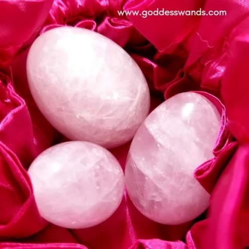 rose quartz trio yoni eggs goddess wands