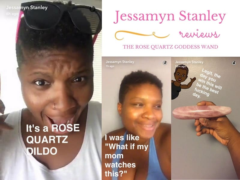 Jessamyn Stanley review, Goddess Wands review, Goddess Wand review, Krystle Ash, Goddess Wands, Rose Quartz dildo, pleasure wand, yoni wand, shakti wand, crystal dildo
