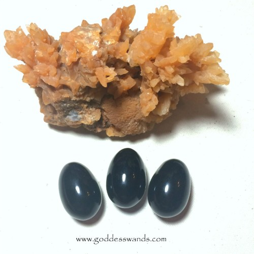 black obsidian yoni eggs from www.goddesswands.com