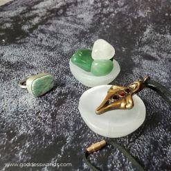 yoni egg charging station, charging bowl. selenite bowl, cleanse, charge, yoni eggs, yoni egg, jade egg, kegel egg, obsidian, obsidian egg, goddesswands, goddess wands, goddess wand, krystle's crystals, healing crystals, crystals for sexual healing, healing crystals for women, rose quartz, rose quartz egg, gemstone egg