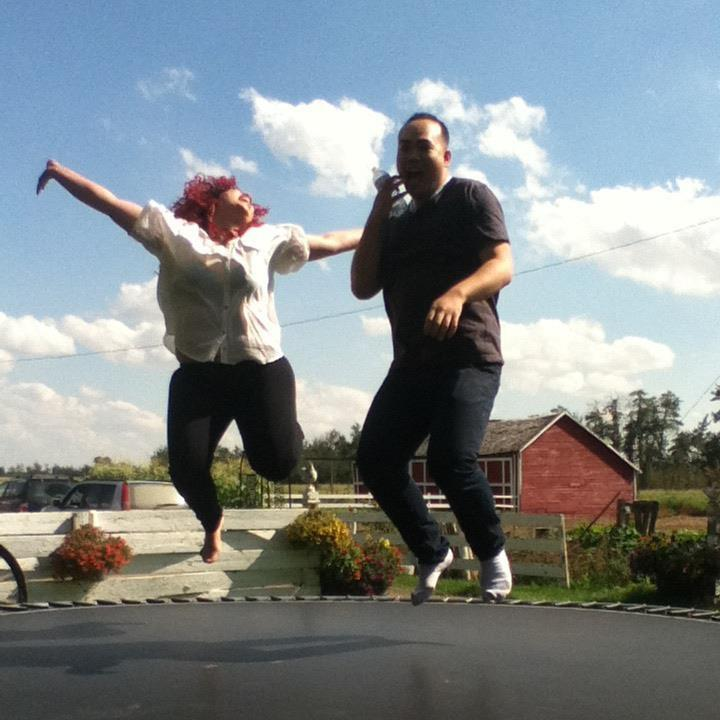 A moment of freedom captured forever - frolicking on a trampoline after a gig with my friend Nikola.