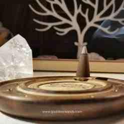 sandalwood incense, incense cone holder, incense holder, incense burner, incense cones, lotus flower, sacred space, cleansing, set the mood