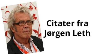 Photo of Jørgen Leth citater