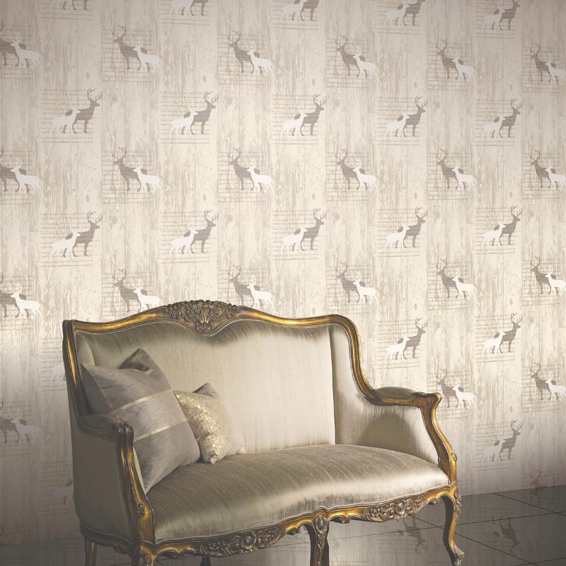 Arthouse Stag Wallpaper Cream