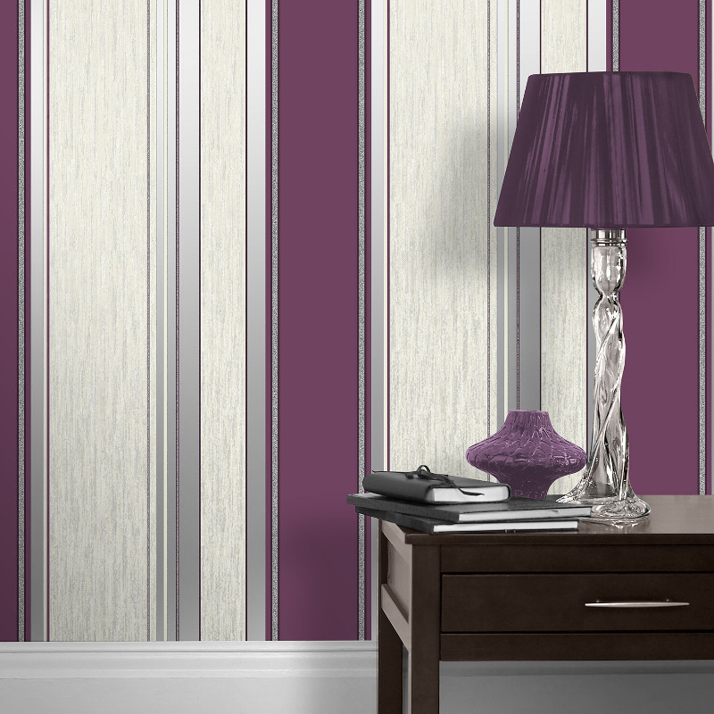 red and black living room decor decorating a vymura synergy glitter stripe wallpaper