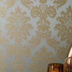 Living Room Wall Paints Table Decor Arthouse Messina Damask Wallpaper - Gold
