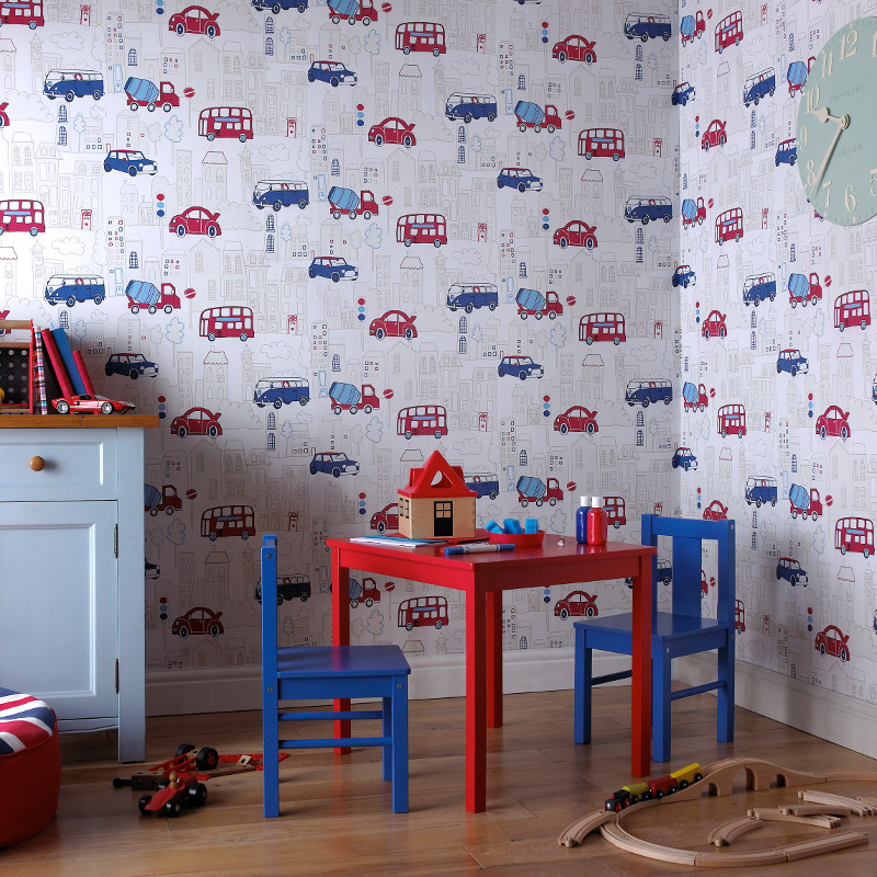 wallpaper ideas for living room feature wall pictures of interior design rooms arthouse motor mania opera fun - blue