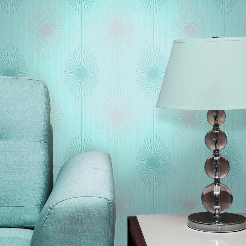 Fine Decor Starburst Glitter Wallpaper In Teal Amp Pink