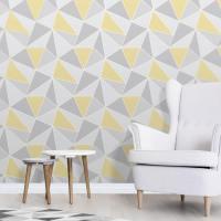 Fine Decor Apex Geo Yellow/Grey Wallpaper - Geometric ...