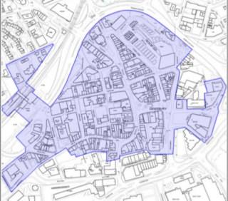 map of Dewsbury Conservation Area