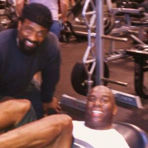 Charles training Magic Johnson