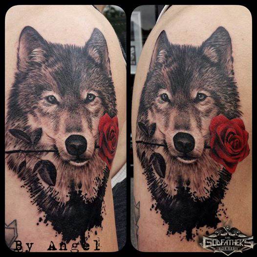 Black And Grey Tattoos Color