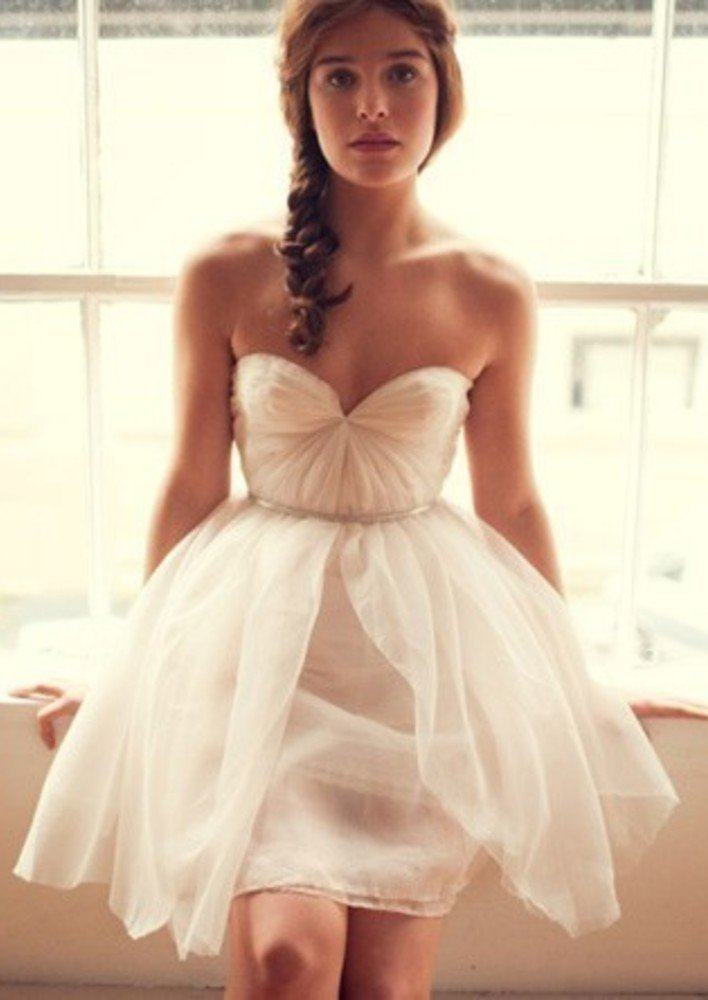 LOVELY SHORT DRESSES FOR THE BRIDES COMFORT  Godfather Style