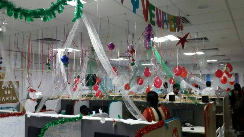 Creative Inspirational Work Place Christmas Decorations