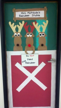 Christmas Door Decorations Reindeer