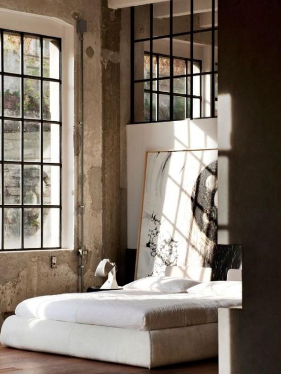 Industrial Bedroom Designs