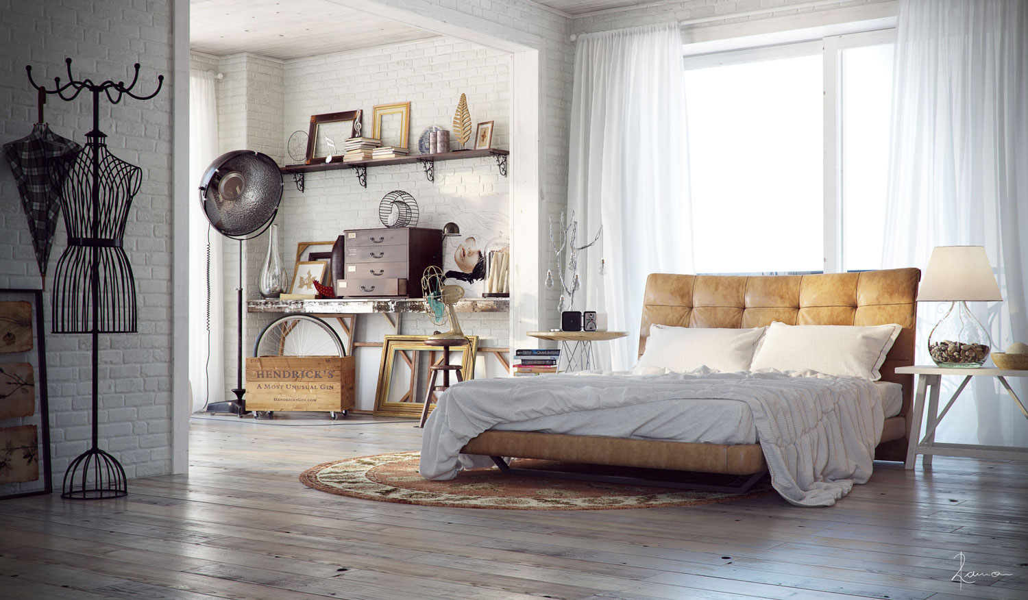27 MODERN INDUSTRIAL BEDROOM DESIGN INSPIRATIONS....... - Godfather Style