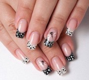 polka dot nail art- latest trend
