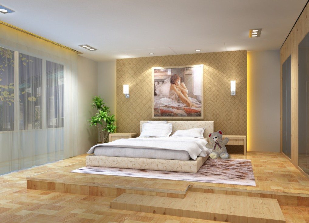 Inspiring Bedroom Wood Flooring