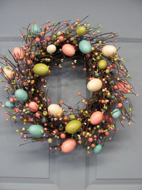 25 CREATIVE Amp EASY HANDMADE WREATHS FOR THIS EASTER