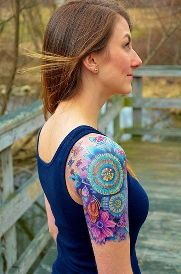 Women Quarter Sleeve Tattoos : women, quarter, sleeve, tattoos, STUNNING, SLEEVE, TATTOO, INSPIRATIONS, WOMEN, Godfather, Style